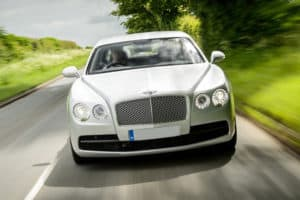 bentley flying spur white front