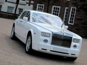 rolls royce white phantom